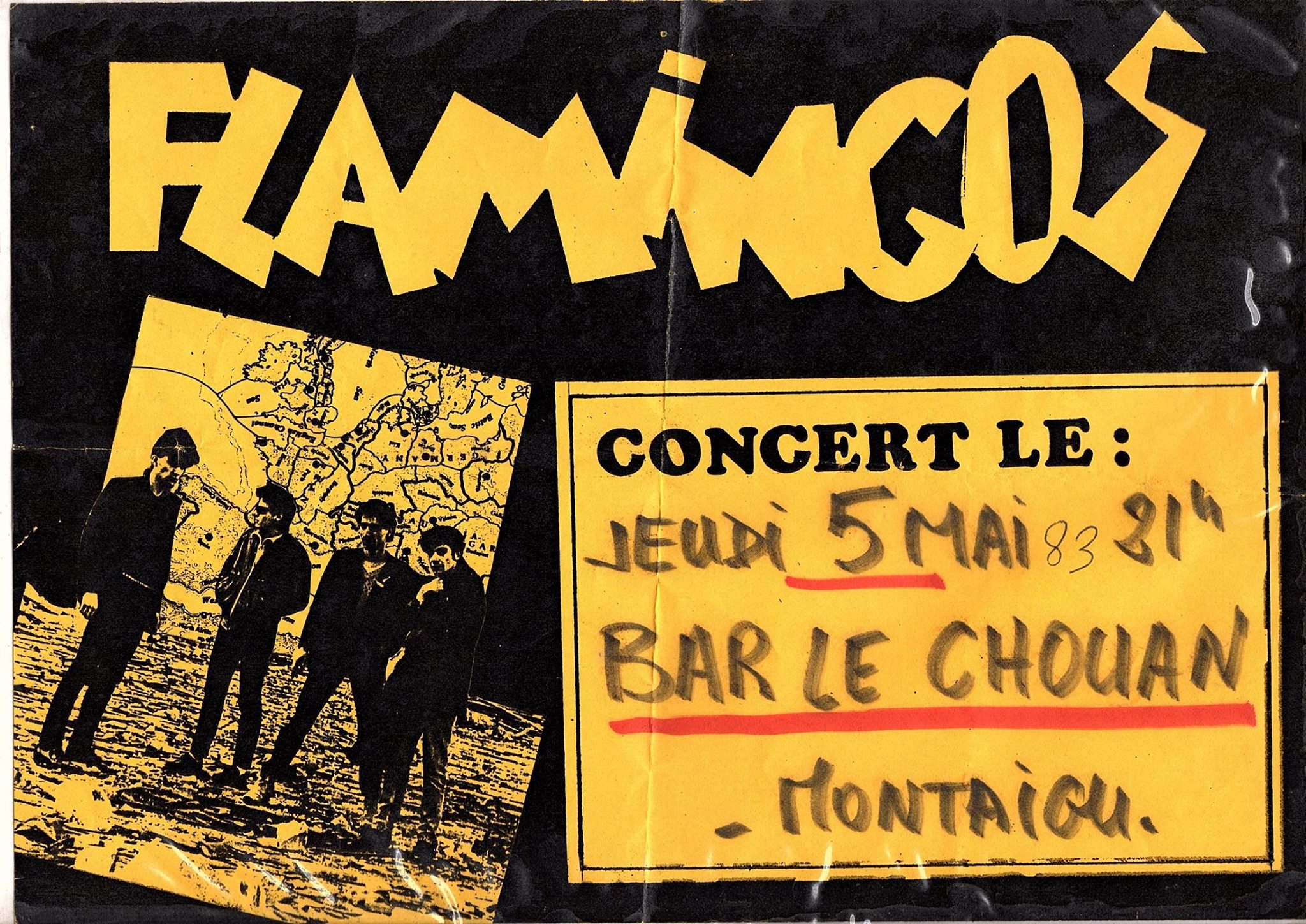"""5 mai 1983 Flamingos à Montaigu """"Bar le Chouan"""""""