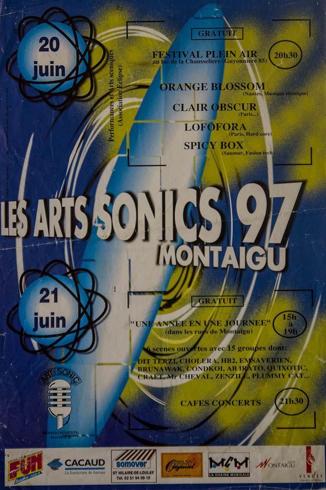 20 juin 1997 Orange Blossom, Lofofora, Clair Obscur, Spicy Box à Montaigu