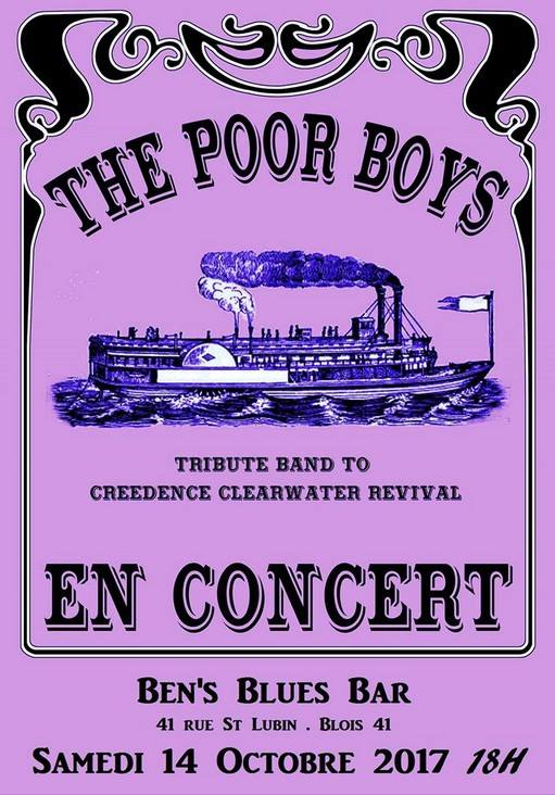 "14 octobre 2017 Poor Boys à Blois ""Ben's Blues bar"""