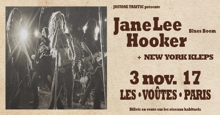 "3 novembre 2017 New York Kleps, Jane Lee Hooker à Paris ""Les Voutes"""
