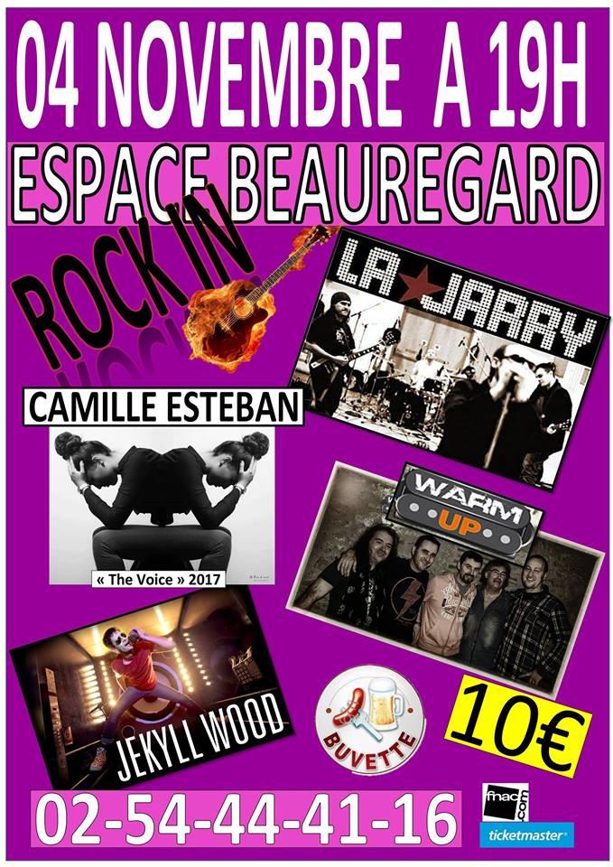 """4 novembre 2017 La Jarry, Camille Esteban, Warm Up, Jekyll Wood à Monthou sur Bievre """"Espace Beauregard"""""""