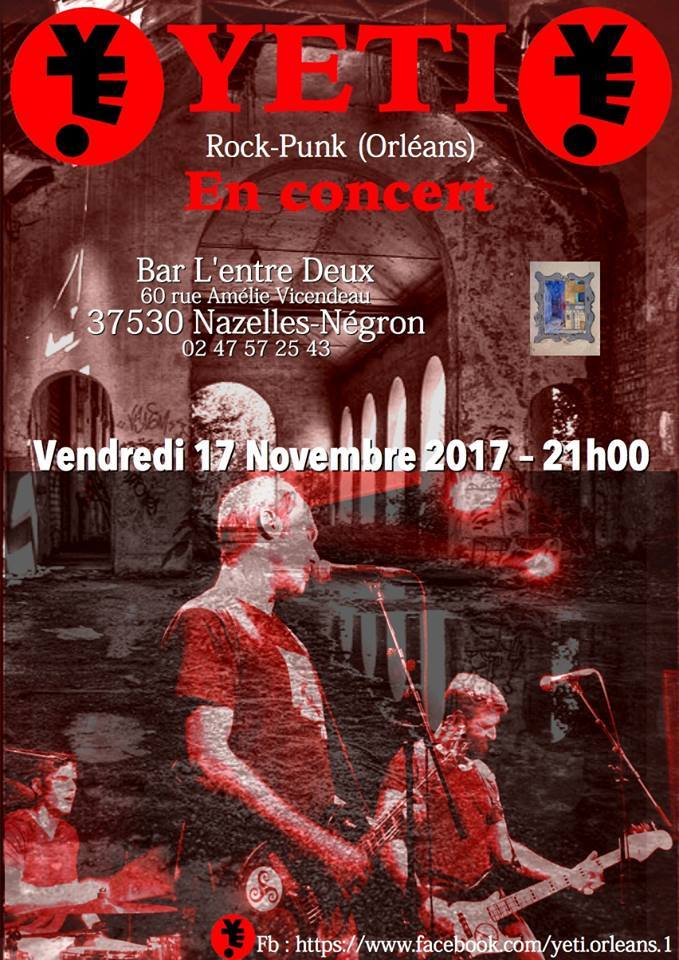 """17 novembre 2017 Yeti à Nazelle Negron """"Bar l'Entre Deux"""""""