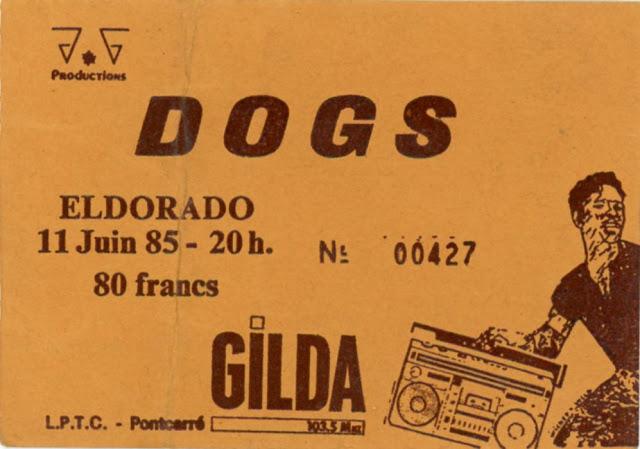 "11 juin 1985 Dogs à Paris ""Eldorado"""