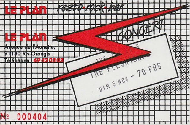 """5 novembre 1989 Jet Boys, Fleshtones à Ris Orangis """"le Plan"""""""