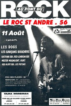 11 aout 1990 Les Dogs, Les Garçons Bouchers, Raftink, Kurt, Red Alert, Red London, Mister Moonlight au Rock Saint Andre