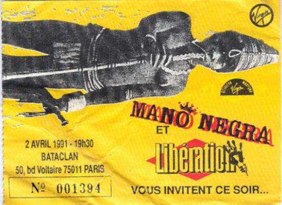 """2 avril 1991 Mano Negra à Paris """"le Bataclan"""""""