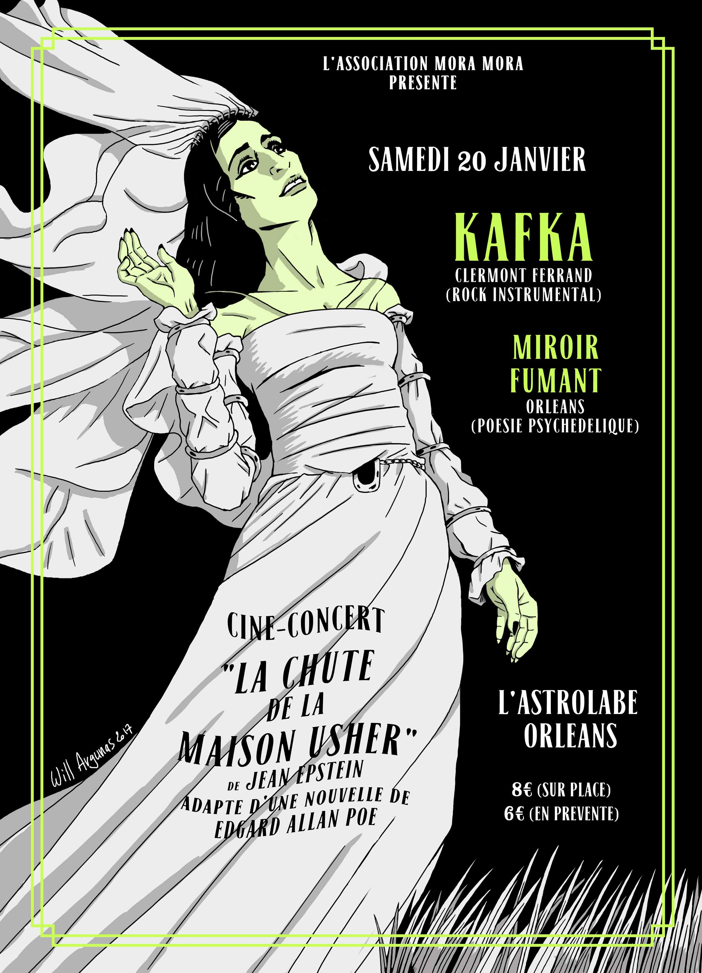 "20 janvier 2018 Kafka, Miroir Fumant à Orléans ""Astrolabe"""