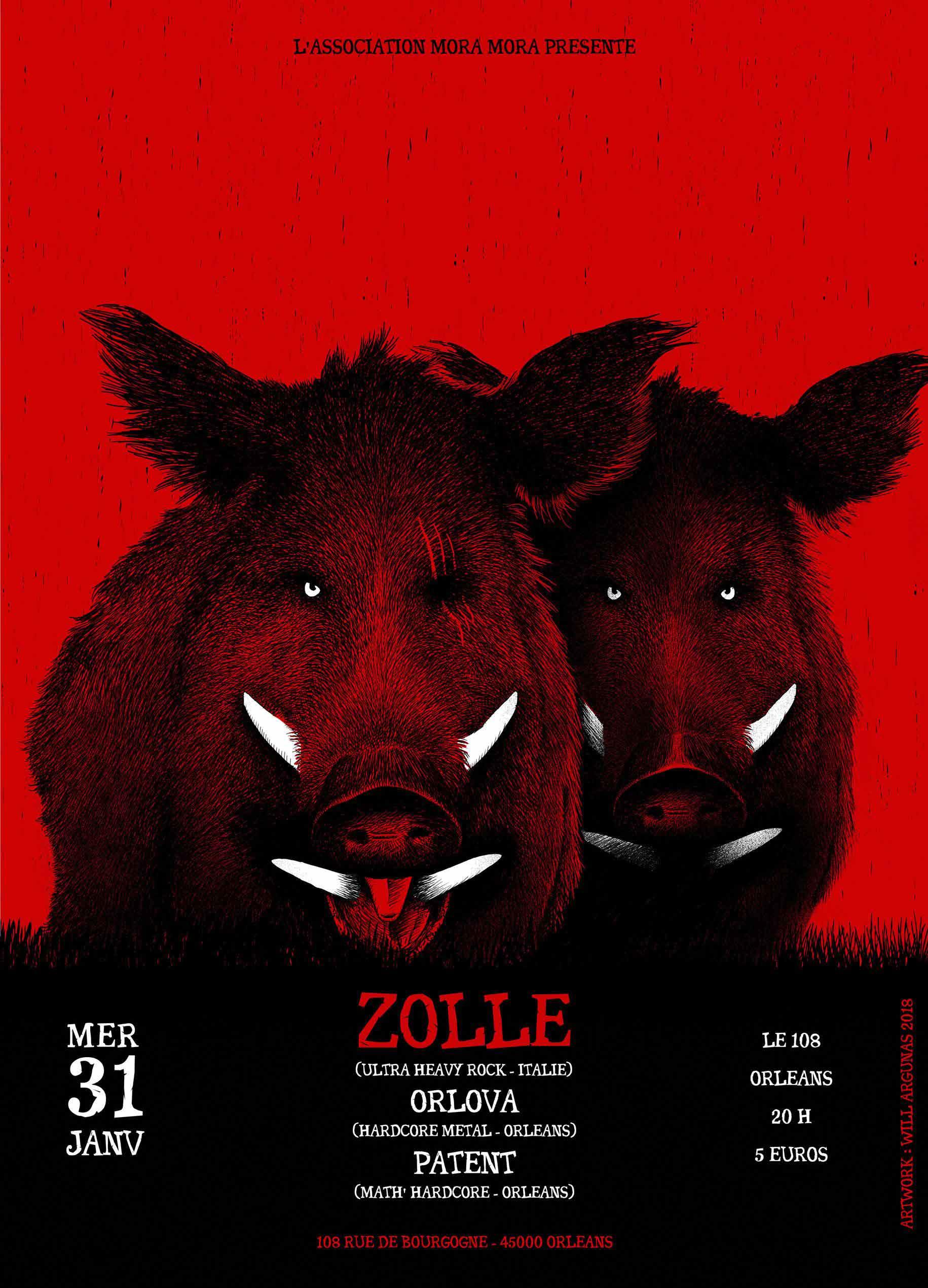 """31 janvier 2018 Zolle, Orlova, Patent à Orléans """"le 108"""""""