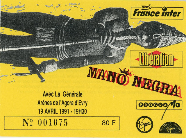 """19 avril 1991 Mano Negra à Evry """"Arene de l'Agora"""""""