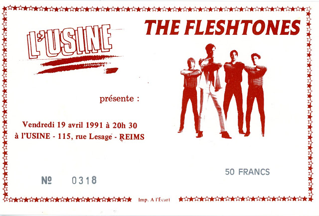 "19 avril 1991 Fleshtones à Reims ""L'Usine"""