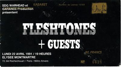 """22 avril 1991 Fleshtones à Paris """"Elysée Montmartre"""""""