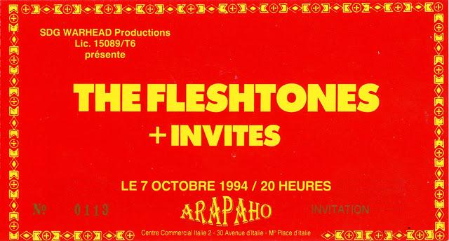 """7 octobre 1994 The Fleshtones à Paris """"Arapaho"""""""