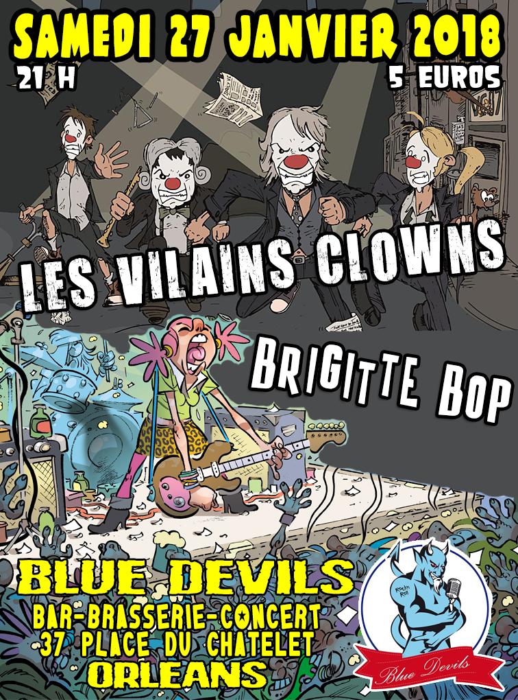 """27 janvier 2018 Les Vilains Clowns, Brigitte Bop à Orléans """"Blue Devils"""""""