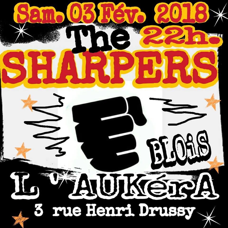 """3 fevrier 2018 Les Sharpers à Blois """"l'Aukera"""""""