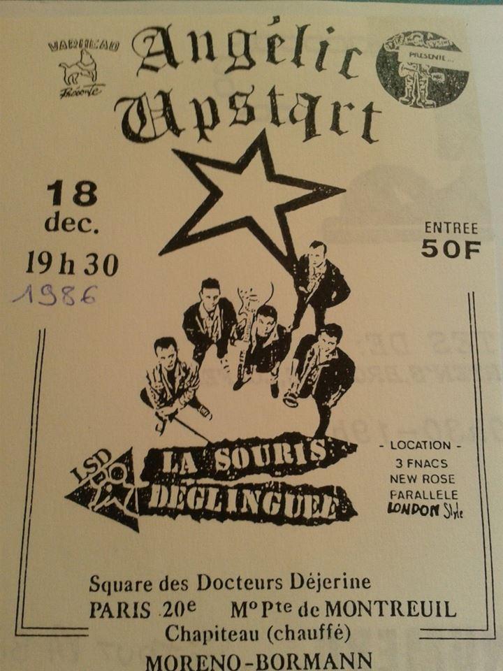 """18 décembre 1986 Condemned 86, La Souris Déglinguée à Paris """"Chapiteau au Square des Docteurs Dejerine"""""""