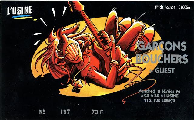 """2 février 1996 les Garçons Bouchers à Reims """"L'usine"""""""