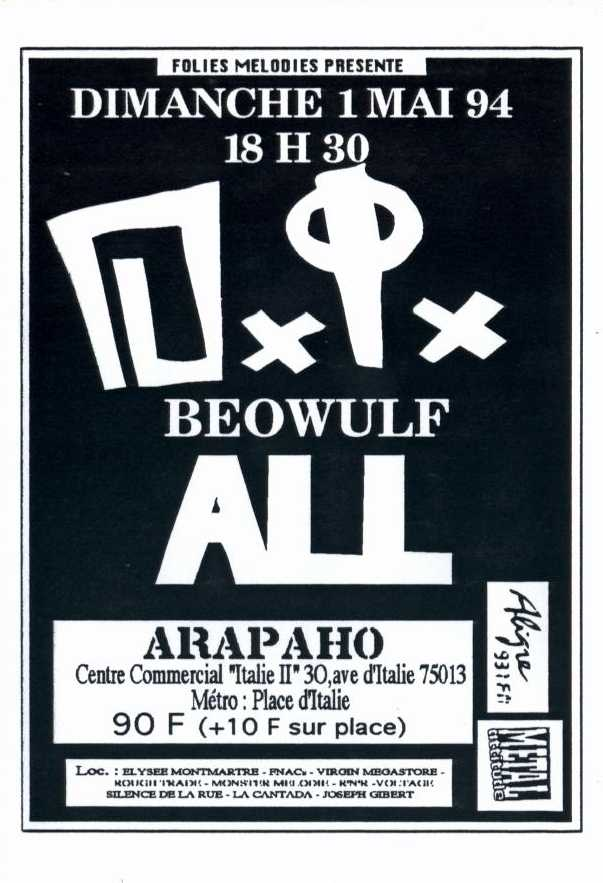 1er mai 1994 DI, Beowulf, All à Paris Arapaho