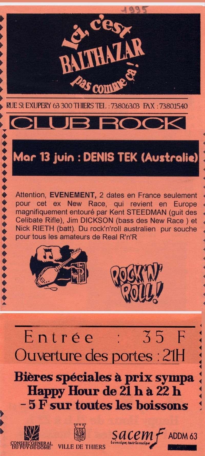 """13 juin 1995 Denis Tek à Thiers """"Balthazar"""""""