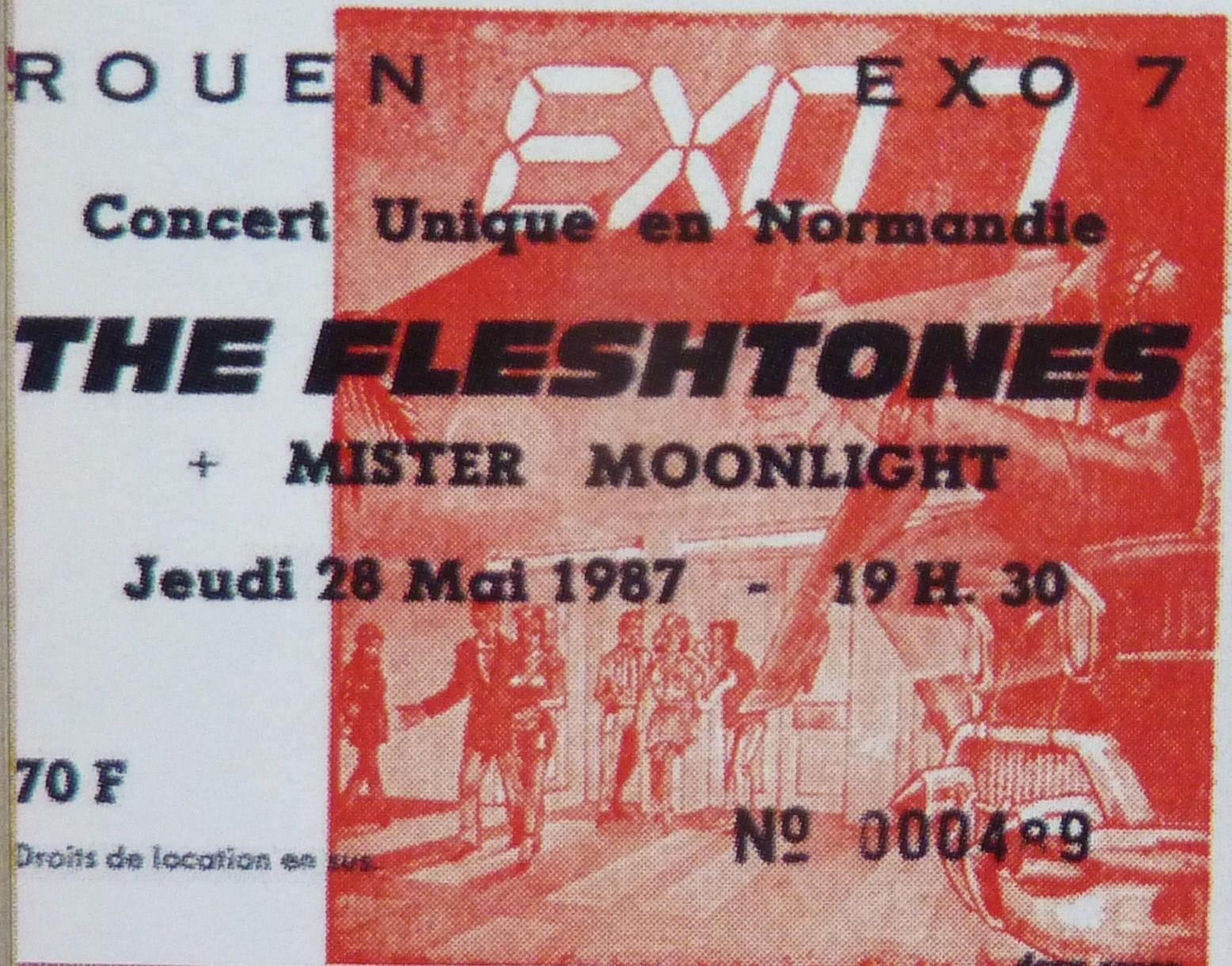 "28 mai 1987 Fleshtones, Mister Moonlight à Rouen ""Exo 7"""