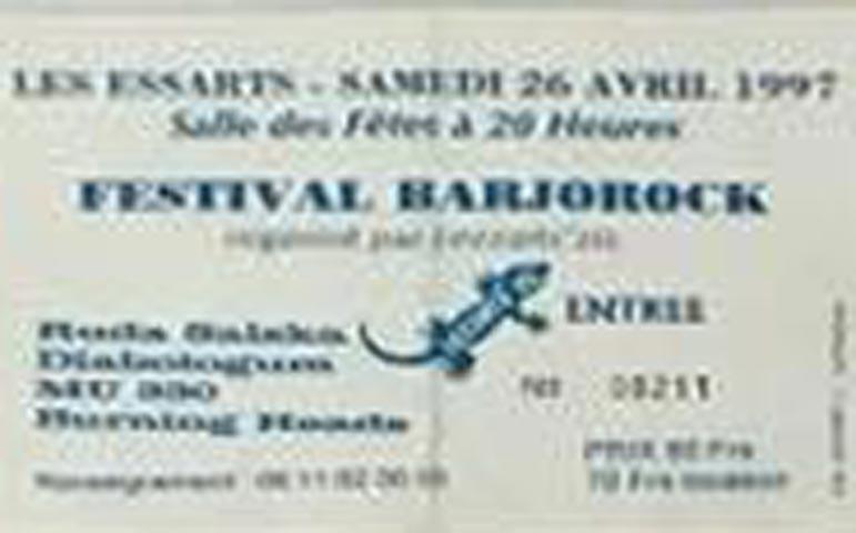 "26 avril 1997 Ruda Salska, Diabologum, MU330, Burning Heads aux Essarts ""Salles des Fetes"""