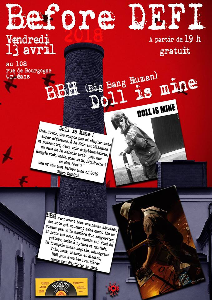 "13 avril 2018 BBH, Doll Is Mine à Orléans ""le 108"""