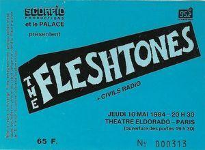 "10 mai 1984 The Fleshtones, Civils Radio à Paris ""le Palace"""