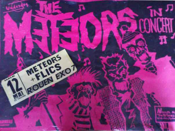 "12 mai 1984 Les Flics, The Meteors à Rouen ""Exo-7"""