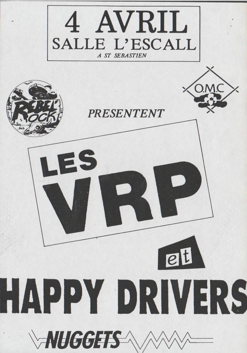 """4 avril 1991 Les VRP, Happy Drivers à Saint Sebastien Sur Loire """"L'Escall"""""""