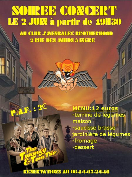 "2 juin 2018 The Twangy & Tom Trio à Ingré ""J'Menbaleck"""