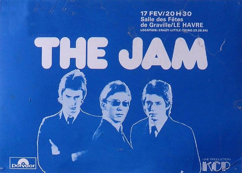 "17 février 1978 The Jam, les Dogs au Havre ""Salle Franklin"""