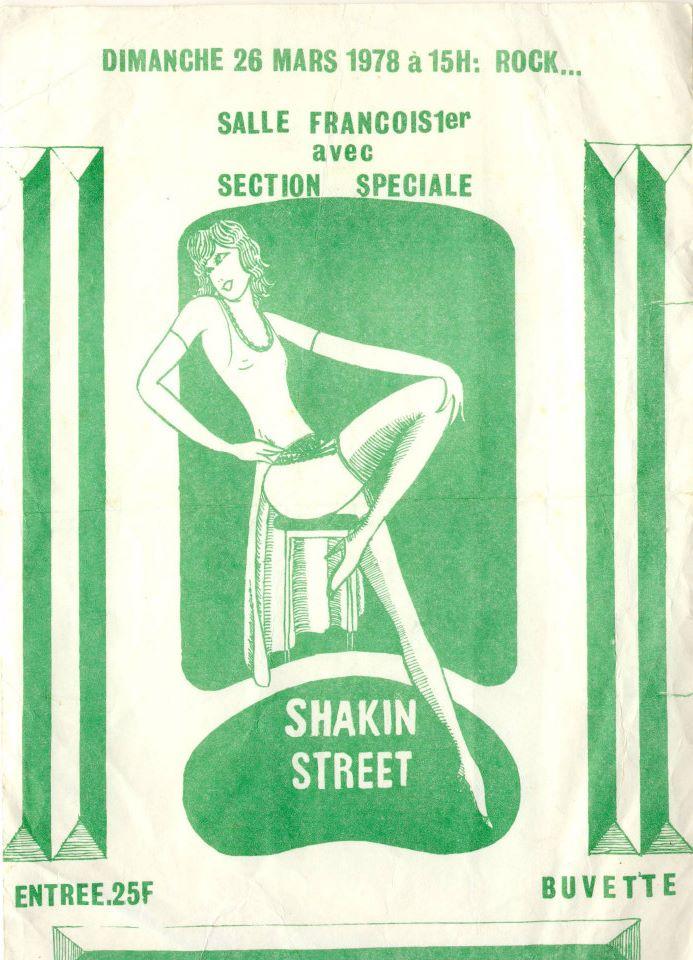 """26 mars 1978 Shakin Street, Section Speciale au Havre """"Salle François 1er"""""""
