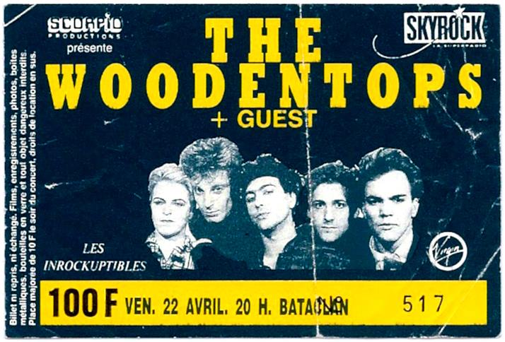 """22 avril 1988 the Woodentops à Paris """"le Bataclan"""""""