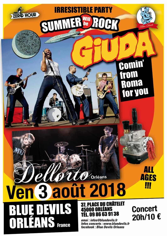 """3 Août 2018 Giuda, Dellorto à Orléans """"Blue Devils"""""""