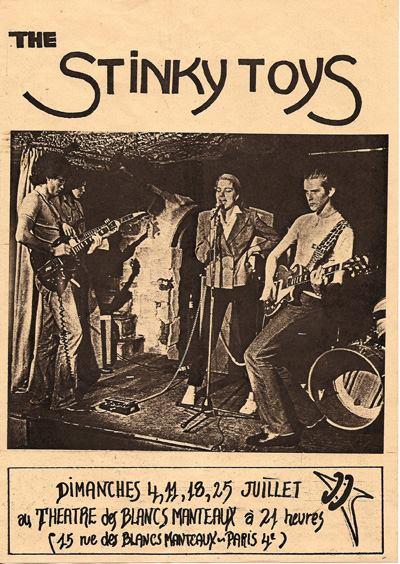 """4 juillet 1976 Stinky Toys à Paris """"Théatre des Blancs Manteaux"""""""
