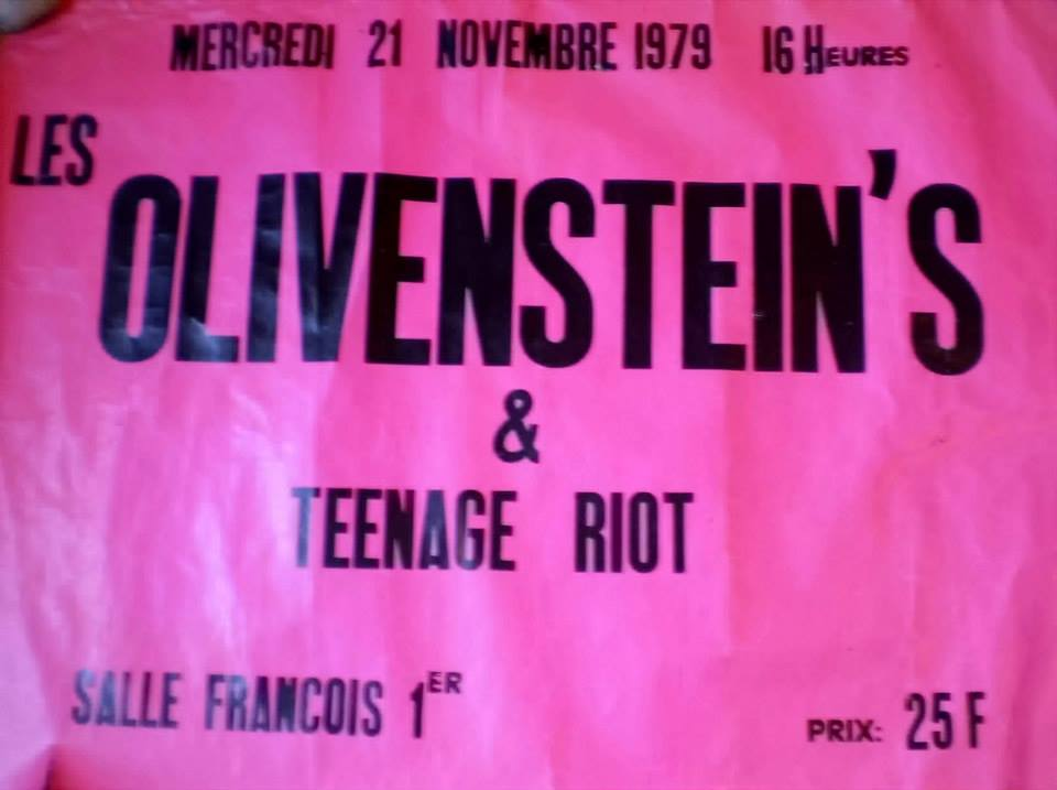 """21 novembre 1979 Olivenstein's, Teenage Riot au Havre """"Salle François 1er"""""""