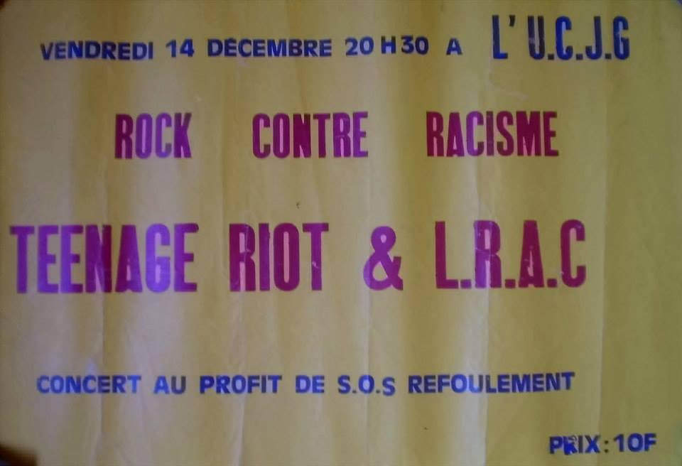 """14 décembre 1979 Teenage Riot, LRAC au Havre """"UCJG"""""""