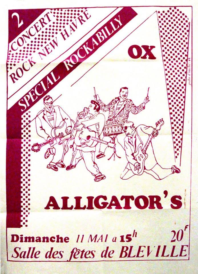 """11 mai 1980 Alligator's, Ox au Havre """"Salle des Fetes de Bleville"""""""