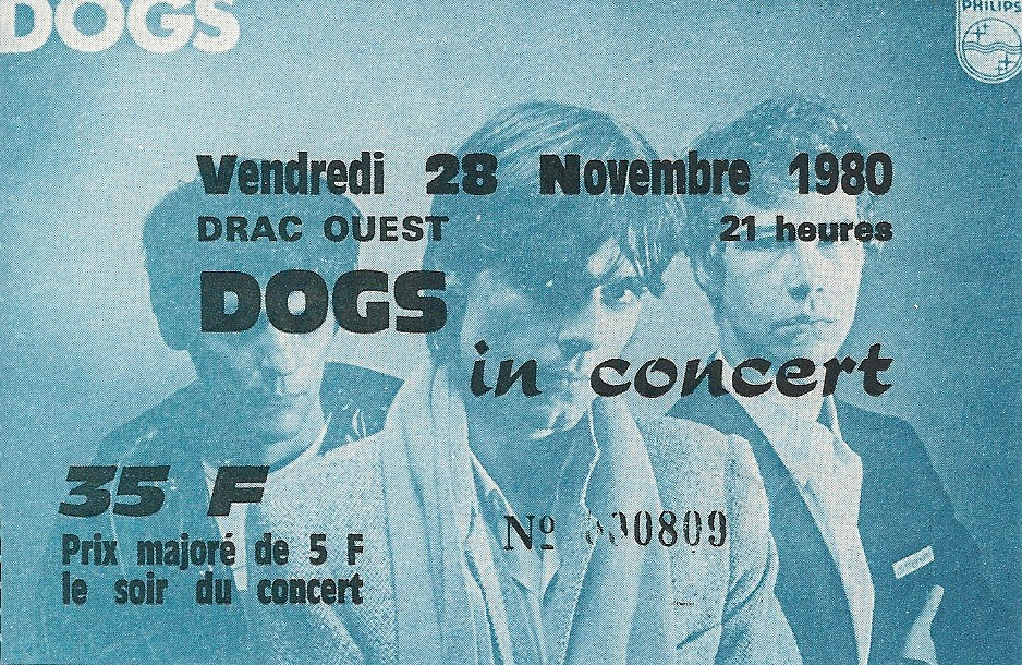 """28 novembre 1980 Les Dogs à Grenoble (?) """"Drac Ouest"""""""