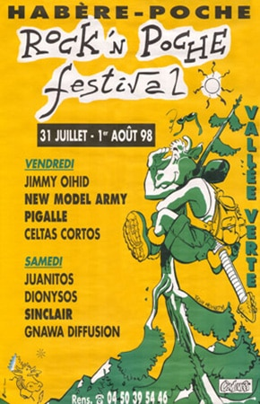 31 juillet 1998 Jimmy Oihid, New Model Army, Pigalle, Celtas Cortos à Habere Poche
