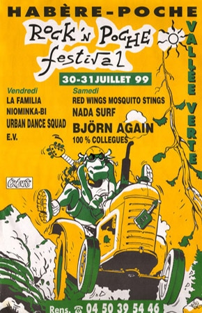 31 juillet 1999 Red Wings Mosquitos stings, Nada Surf, Bjorn Again, 100% Collegues à Habere Poche