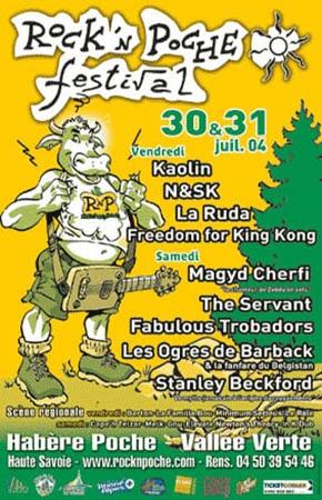 30 juillet 2004 Kaolin, N&sk, La Ruda, Freedom For King Kong à Habere Poche