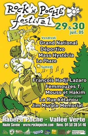 29 juillet 2005 Grand National, Deportivo, Mass Hysteria, La Phaze à Habere Poche