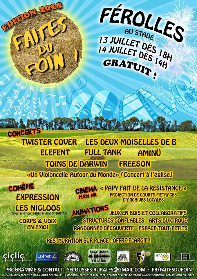 "14 juillet 2018 Freeson, Aminu, Elefent, Twister Cover à Ferolles ""Stade"""