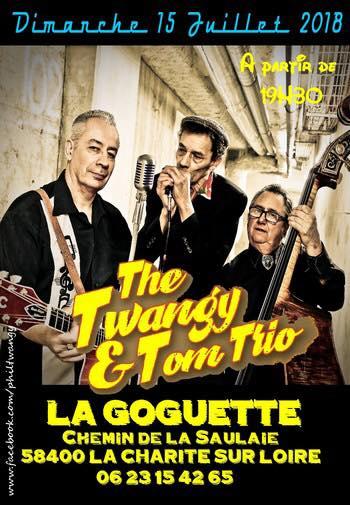 """15 juillet 2018 The Twangy & Tom Trio à La Charité Sur Loire """"la Goguette"""""""