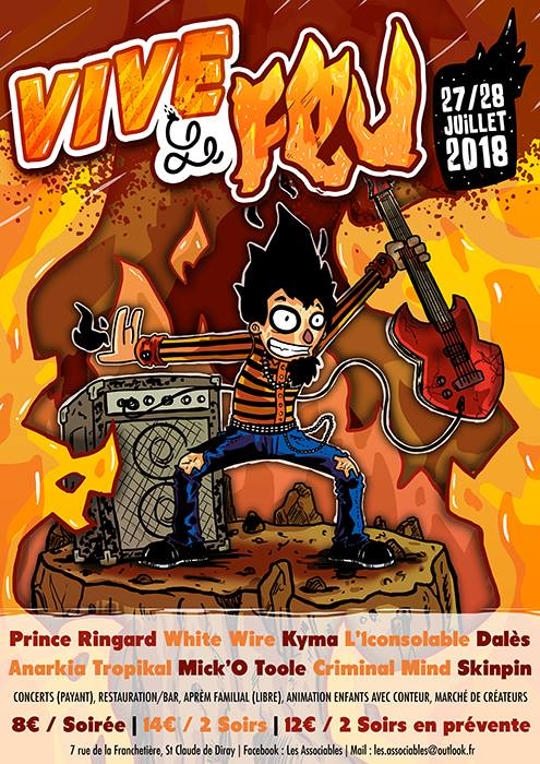 28 juillet 2018 White Wire, L'iconsolable, Skinpin, Anarkia Tropikal à Saint Claude de Diray