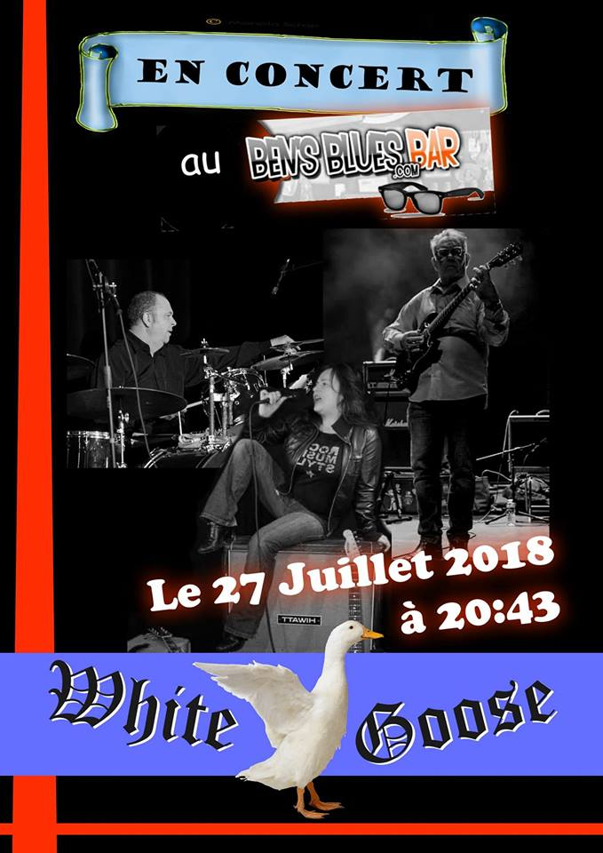 "27 juillet 2018 White Gooze à Blois ""Ben's Blues Bar"""