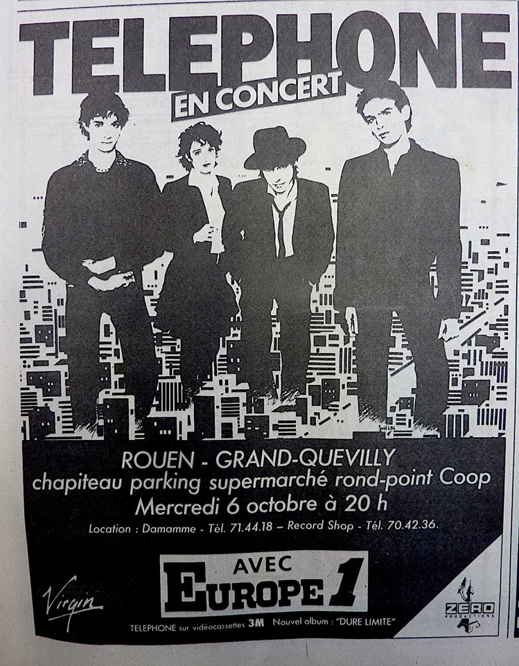 "6 octobre 1982 Telephone à Grand Quevilly ""Chapiteau Parking Supermaché Rond Point Coop"""