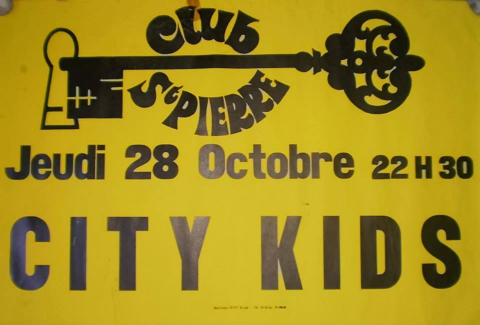 "28 octobre 1982 City Kids à Rouen ""Club Saint Pierre"""