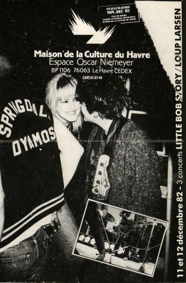 "11 decembre 1982 Little Bob Story, Loup Larsen au Havre ""Espace Oscar Niemeyer"""