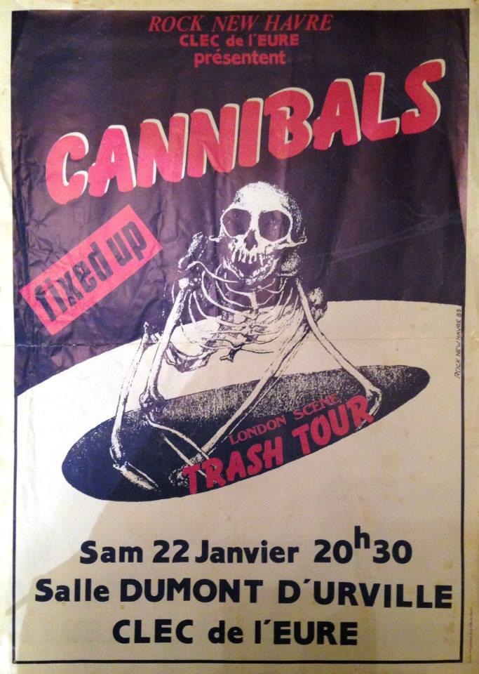 """22 janvier 1983 Cannibals, Fixed Up au Havre """"Salle Dumont D'Urville"""""""